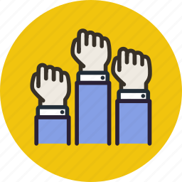 discontent, fist, freedom, hands, revolution, uprising icon