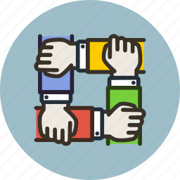 collaboration, hands, partners, partnership, team icon