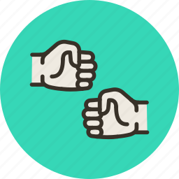 fight, fist, hands, punch, shake icon