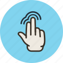 double, fingers, gesture, hand, touch, two icon