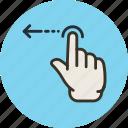 finger, gesture, hand, left, swipe