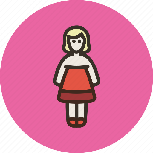 business, customer, dress, employee, female, user, woman icon