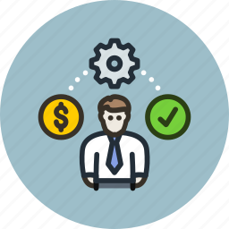 budget, business, employee, idea, process, project, worker icon
