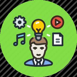 author, content, create, creative, idea, process icon