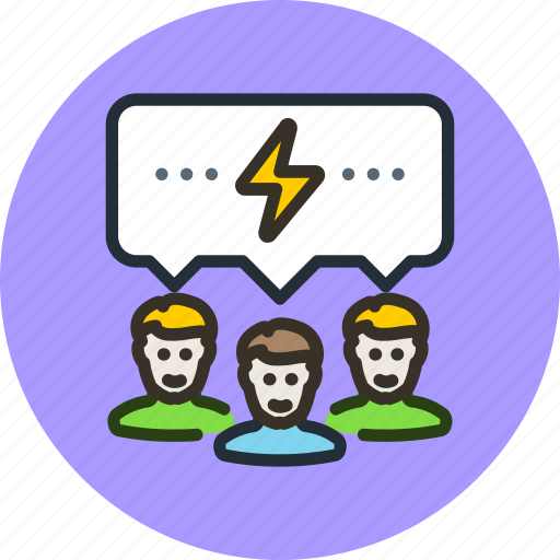 brain, communication, discussion, forum, idea, storm, team icon