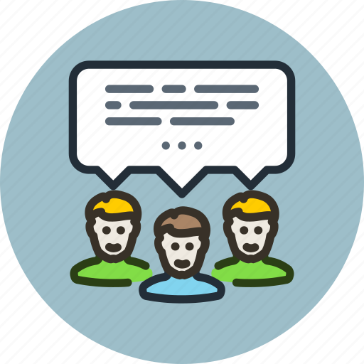 chat, communication, discussion, forum, message, team icon