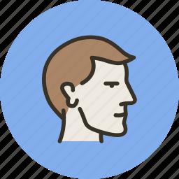 face, head, male, man, mind, profile, user icon