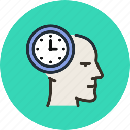 face, head, mental, mind, planning, process, time icon