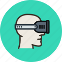 head, helmet, player, reality, virtual, vr icon