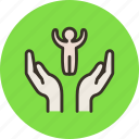 care, child, hands, help, people, protect icon