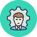 business, employee, process, worker icon