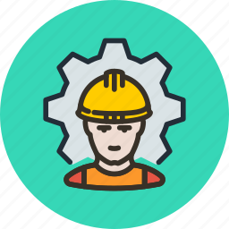 employee, factory, industrial, process, work, worker icon