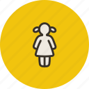 child, female, girl, human, kid icon