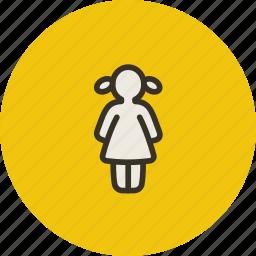 child, female, girl, human, kid icon
