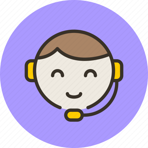 call, center, girl, support, tech icon