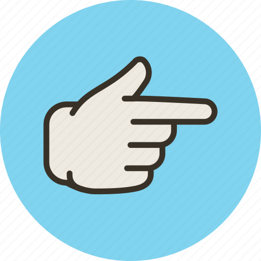 finger, forefinger, gesture, hand, right, touch icon