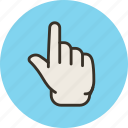 finger, forefinger, hand, idea, touch, up icon