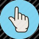 finger, forefinger, hand, idea, touch, up