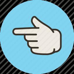 finger, forefinger, hand, left, touch icon