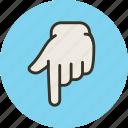 down, finger, forefinger, hand, touch