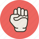 fist, hand, knuckle, kulak, will, willpower icon