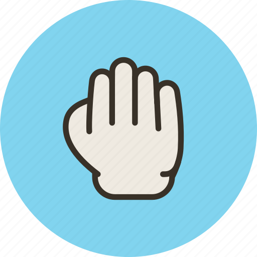 gesture, grab, hand, palm, touch icon