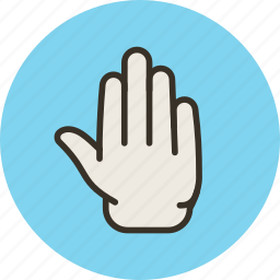 fingers, five, gesture, hand, palm, touch icon