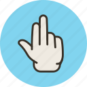 fingers, grab, hand, palm, three icon