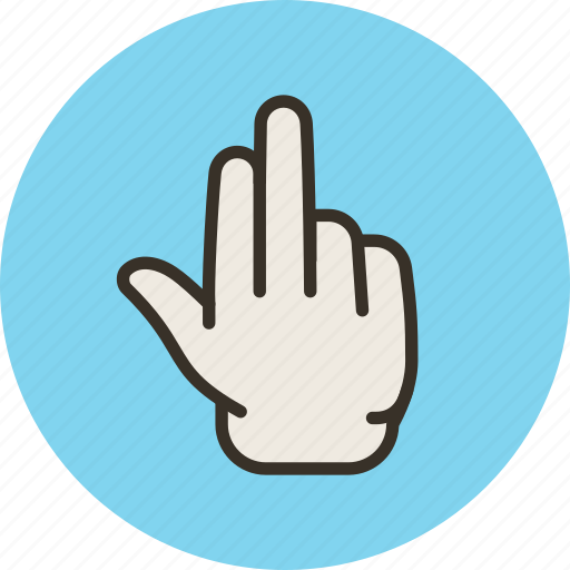 fingers, grab, hand, palm, three icon