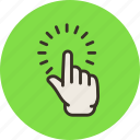 click, finger, hand, point, pointing, touch icon