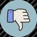 disagree, dislike, no, vote, hand