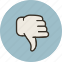 disagree, dislike, hand, no, vote icon