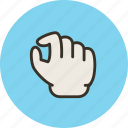 gesture, hand, out, pinch, zoom icon