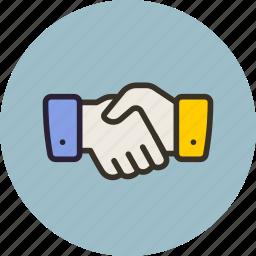 associate, hand, handshake, partner icon
