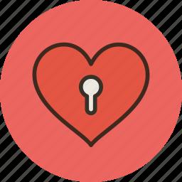 adult, content, heart, keyhole, love, porno, secret icon