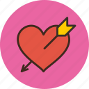 arrow, heart, love, santa, valentine icon