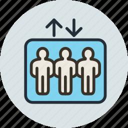 elevator, lift, passenger, transportation icon