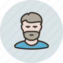 avatar, beard, bristle, guy, human, man, user icon