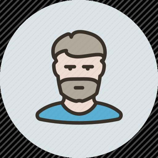 avatar, beard, bristle, guy, human, man, user icon