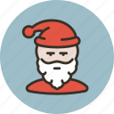 avatar, grandfather frost, santa claus, user icon