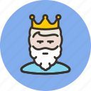 beard, cesar, guy, king, monarch, tsar, user icon