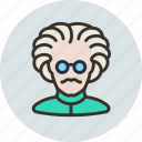 assistant, doctor, einstein, mad, professor, scientist, tester icon