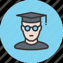 bachelor, professor, scientist, student icon
