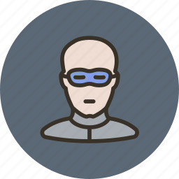 bald, bandit, human, thief icon