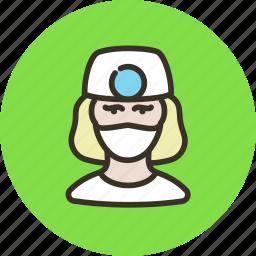 avatar, doctor, human, nurse, stomatologist, woman icon