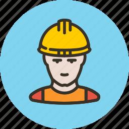 avatar, builder, human, industrial, man, working icon