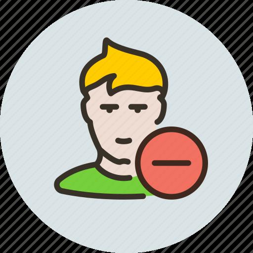avatar, dislike, friend, human, remove, subscribe, user icon