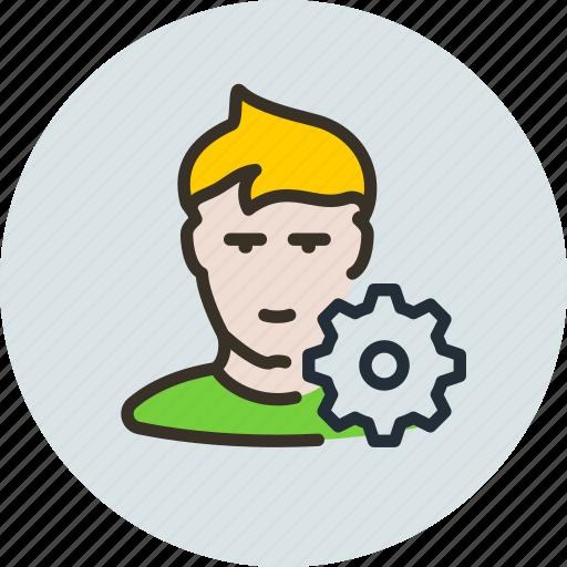 avatar, edit, human, options, profile, user icon