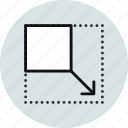 expand, interface, layout, zoom icon