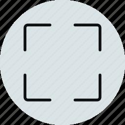 full, fullscreen, layout, screen icon